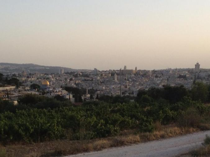 The view of the Old City from the Mt. of Olives (June 2013)